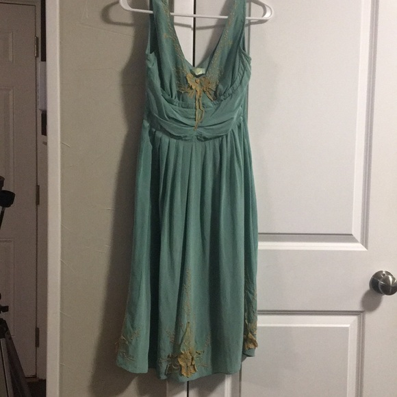 "Anthropologie Dresses & Skirts - Anthropologie ""tawny garden"" silk dress"